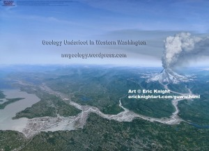 Geology Underfoot cover art by Eric Knight in poster format. 20