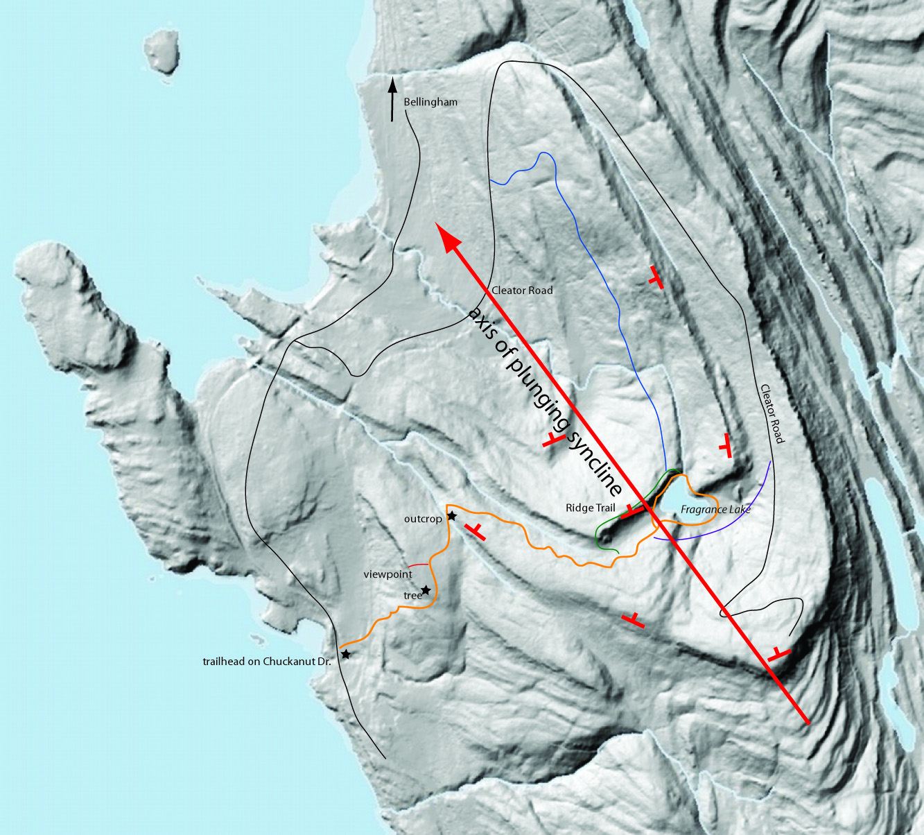 Fragrance Lake Geology Guide Northwest Geology Field Trips - Marks lake maps