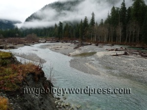 Baker River's braided channel just above Lake Creek.