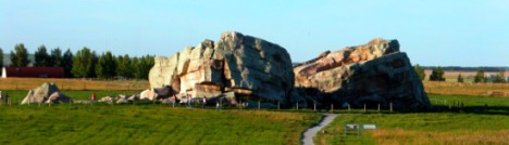 The Okotoks erratic south of Calgary.