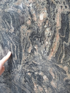 In downtown Seattle, see 3.5 billion year old Morton gneiss, probably the oldest building stone in the world!