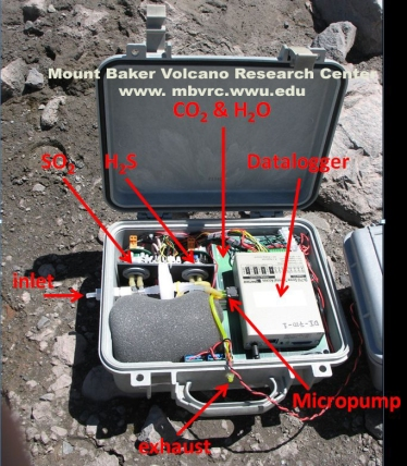 Multi-gas sampler, Sherman Crater, Mount Baker.