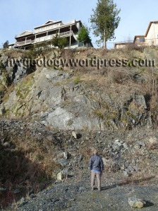 The phyllite quarry on