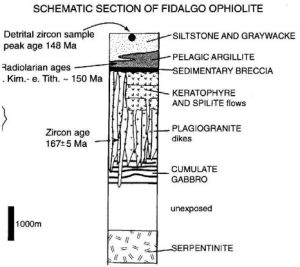 Section through the Fidalgo ophiolite. (From Brown and others, 1979).