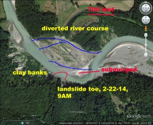 Annotated Google Earth screen capture. D. Tucker