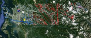 GE Skagit geology, with unit polygons turned off. Lines are contacts and faults. Unit names remain.