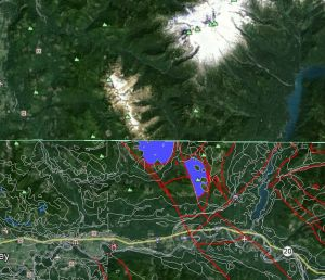 GE Skagit county showing only occurences of Twin Sisters Dunite.