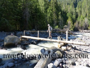 Foot bridge over the Middle Fork